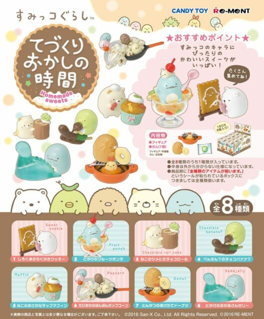 Re-Ment Miniature Japan Sumikko Gurashi Homemade Sweets Full set of 8 pcs