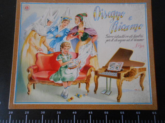 Board game Disegno e Ricamo Con Timbri GIOCO TAVOLO Rare Vintage New