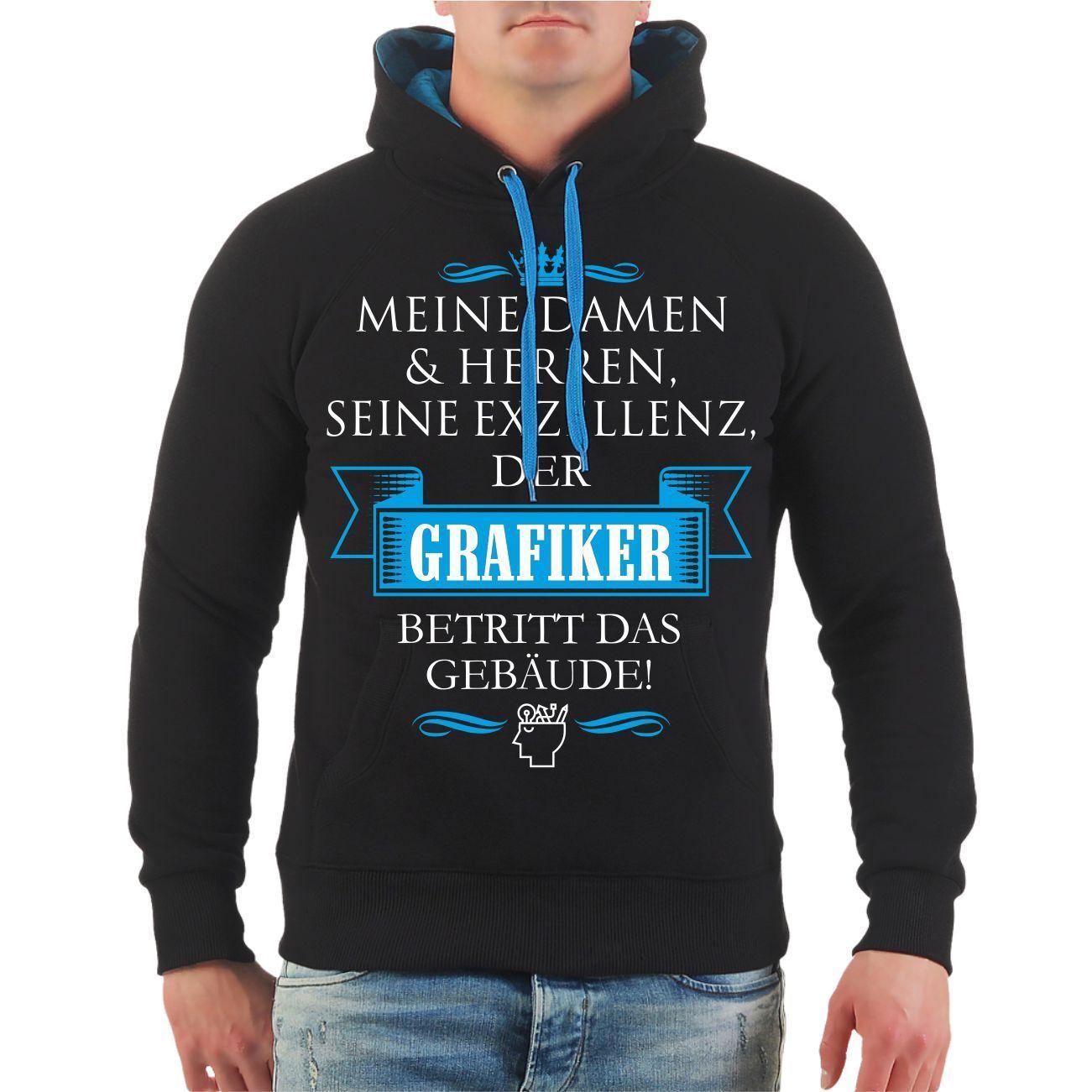 Kapuzenpullover Seine Exzellenz DER GRAFIKER Designer lustiges Geschenk Hoodie