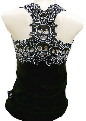 ROCKABILLY PUNK ROCK BABY ™ Emo Tiki Skull Tattoo TANK TOP SHIRT XS/S/M/L/XL/XXL
