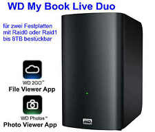 WD my book Live Duo carcasa DLNA Cloud memoria 2bay RAID nas hasta 8tb