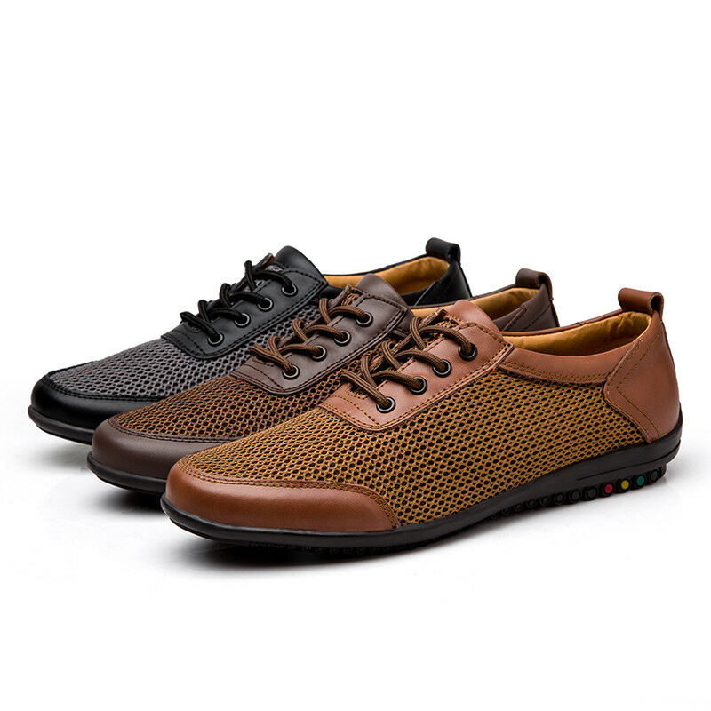 Men's Mesh Walking water shoes Loafers Breathable Hiking shoes Flat Casual shoes