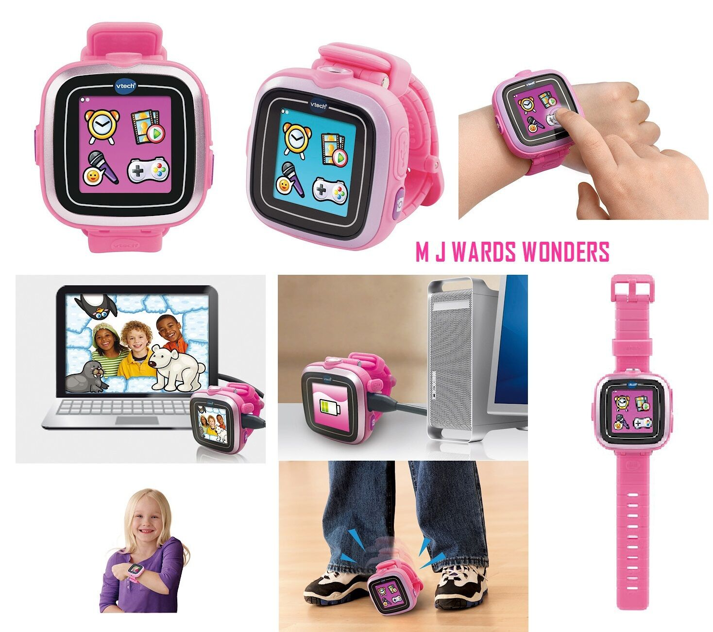 Vtech KidiZoom Smart Watch Pink Kids Girl Electronic Toy Games Camera Video