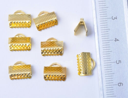 Ribbon Clip Clamps Tips Cord Ends Beads 6mm 10mm 13mm 16mm 20mm 6color wholesale