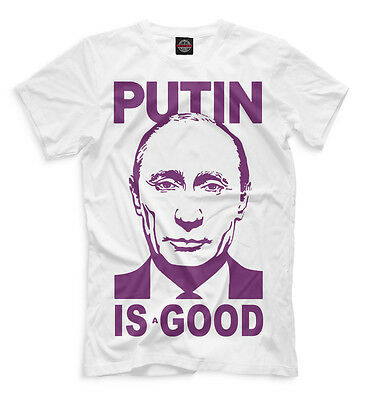 Funny T-shirt Putin is a good Mr president Russia Moscow Strong Leader HQ