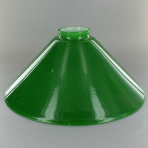 10-034-GREEN-Cased-Glass-Hanging-Lamp-CONE-SHADE-2-1-4-034-Fitter