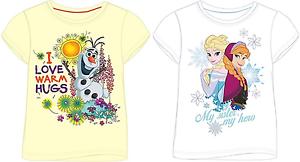 Nouveau disney frozen filles t-shirts taille 18-24 3-4 2-3 5-6 /& 7-8 ans