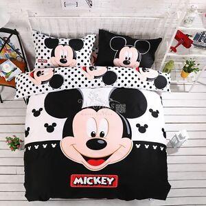 Lenzuola Matrimoniali Topolino Minnie.Completo Letto Mickey Mouse Copripiumino Lenzuola Federe Cuscini