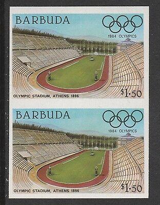 Barbuda (619) 1984 Olympics $1.50 Stadium Imperf Pair U/m Good Taste