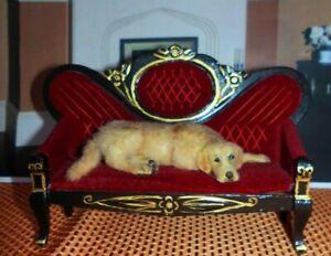 OOAK-Golden-Retriever-dog-Realistic-Dollhouse-1-12-Handmade-Miniature-IGMA-cat