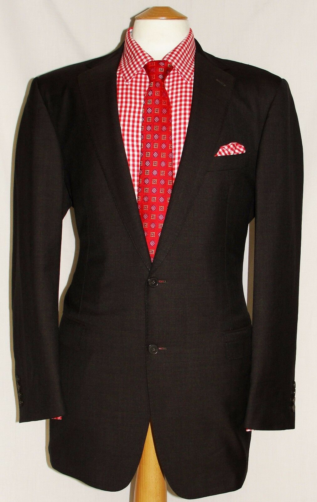 Herren MARKS AND SPENCER COLLEZIONE braun DESIGNER SUIT UK 42L W36