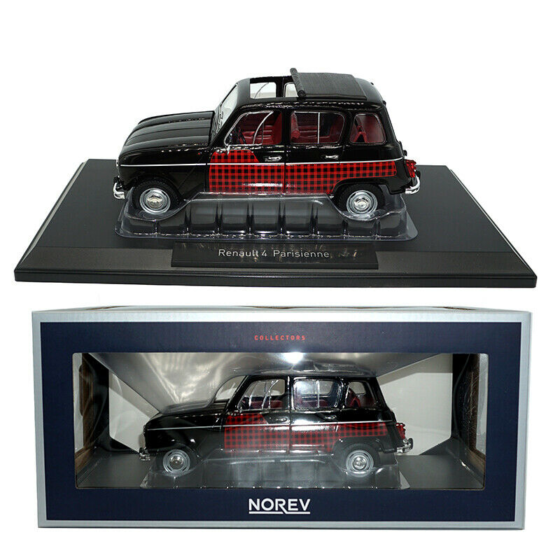 Collectors 1 18 Norev Diecast Metal UV1 Renault 4 parosoenne nero&rosso CAR Model