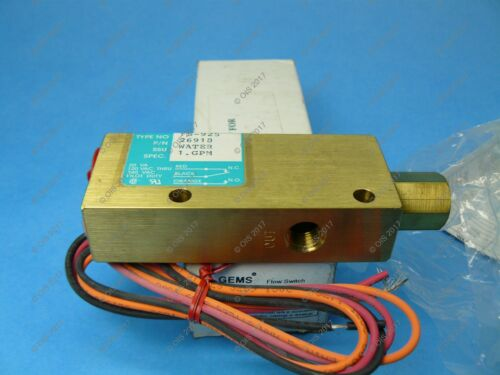 "Gems 26918 Water Flow Switch 1//4/"" NPT Brass 1 GPM SPDT Piston Type New"