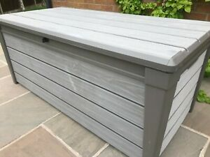 Image Is Loading Keter Brushwood Plastic Storage Garden Box Outdoor Deck