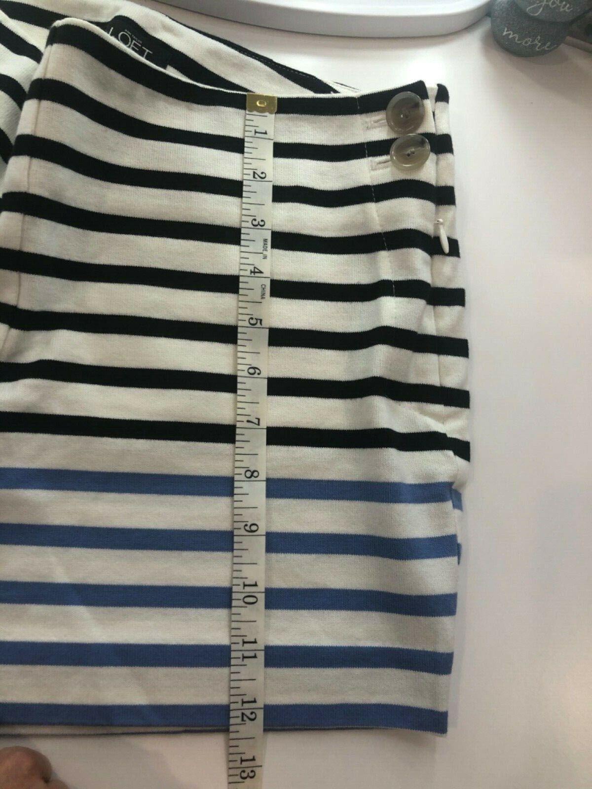 Ann Taylor LOFT Tailored Cotton Striped Shorts Wo… - image 8