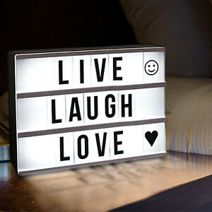 light box letters led sign letter board cinema lightbox message cinematic a4 a3 table lights a6 diy night a5 combination