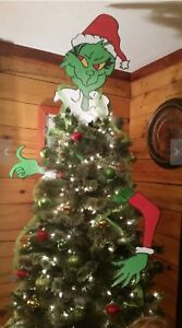 Christmas Grinch Decorations.Details About Popular New 3 Piece Christmas Grinch Tree Topper