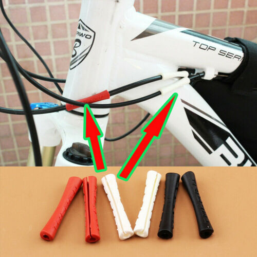 4pcs Silicone Bicycle Outer Brake Gear Cable Wrap Frame Protector MTB Road Bike