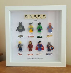 PERSONALISED DADDY SUPERHERO FRAME BIRTHDAY GIFT DAD STEPDAD BROTHER