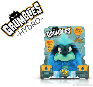 Details About New Pomsies Grumblies Hydro Stuffed Troll Animal Plush Kids Toy Figure Blue