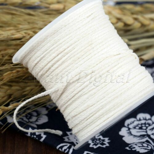Durable Cotton Wicks Cores DIY Making Supply Square Braid Candle Wick 1Roll