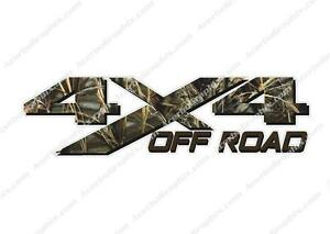 4x4 Off Road Camouflage Max Camo Hunting Truck Decal