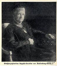 Großherzoginwitwe Augusta-Karoline von Mecklenburg-Strelitz (verstorben) 1916