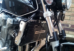 HONDA-CB-1300-01-06-STAINLESS-STEEL-RADIATOR-COVER-GUARD-GRILL-WIDE