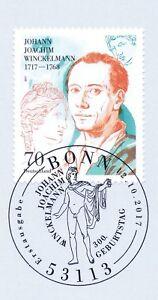 Rfa 2017: Johann Joachim Winckelmann Nº 3338 Avec Bonner Cachet Spécial! 1 A! 1812-afficher Le Titre D'origine Haute Qualité Et Bas Frais GéNéRaux