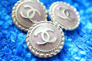 Four-price-for-4-pcs-Chanel-vintage-Buttons-cc-silver