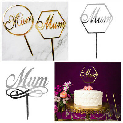 Happy Mother's Day Acrylic Mum Cake Toppers Sticks Cake ...