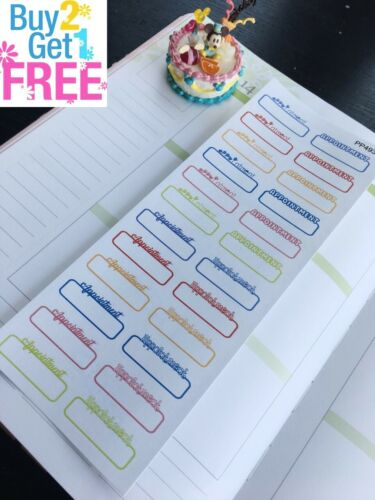 Planner Stickers Erin Condren Doctor Appointment S493 Dentist Appointment