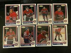 1986-87-O-Pee-Chee-MONTREAL-CANADIENS-13-card-team-lot