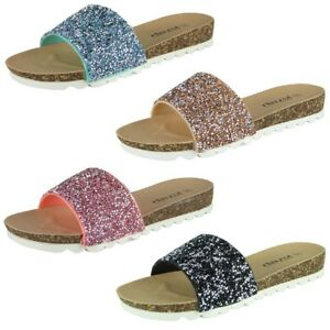 Womens Slip On Flats Ladies Summer Slip Ons Fashion Chappal Sandals ... 8d2211c54e
