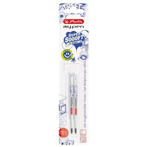 löschbar blau Gel Kugelschreiberminen 2 herlitz Gelschreiberminen my.pen