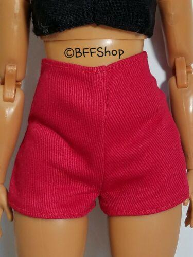 MATTEL RED HIGH WAIST SHORTS BARBIE FASHIONISTAS FASHION CLOTHES CURVY