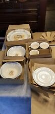 14 pcs New Tienshan Stoneware Country Bear dinner salad plates bowls saucer cups