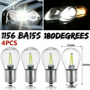 4-x-1156-BA15S-COB-LED-Auto-Ruecklicht-Blinker-Birne-Lampe-Bremslicht-12V-24V