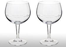 Hendricks Gin Goblet Glass X 2 New