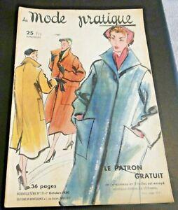 Magazine La MODE PRATIQUE  1er Octobre  1950  n°19