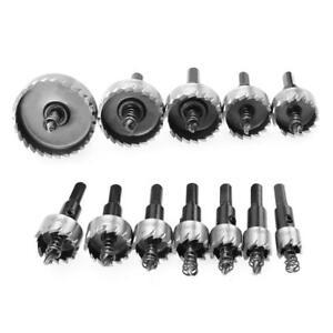12stk-HSS-Bohrer-Lochsaege-Zahn-Set-Stahl-Metall-Aluminium-Holz-Cutter-15-50mm
