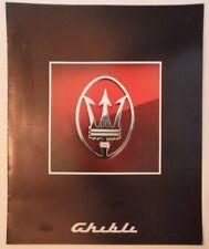 MASERATI GHIBLI orig 1992 Sales Brochure Prospekt in English French & German