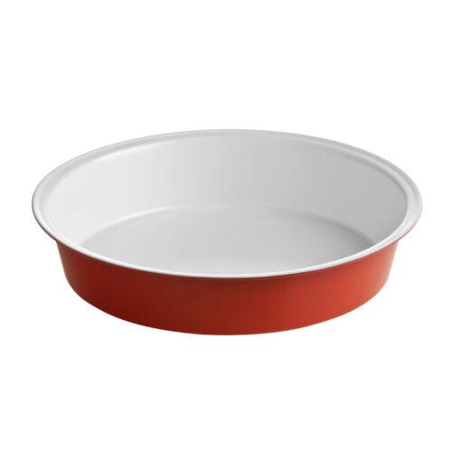 Ecocook Red Aluminium Cookware Roasting Dish Oven Baking Tin Tray Pan Ceramic