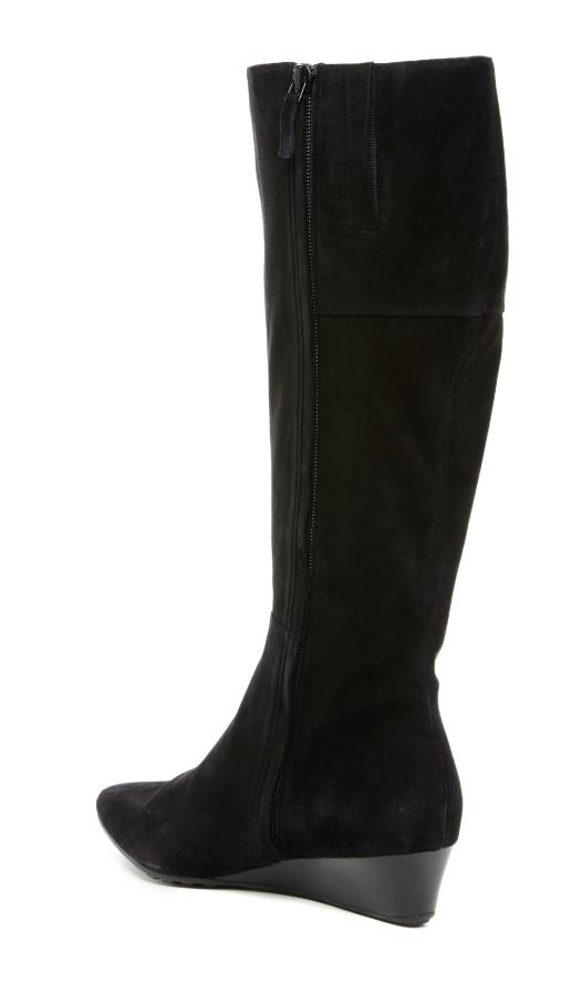 Cole Haan Tali Luxe Women's Women's Women's Black Suede Extended Calf Boot Sz 8 3076  765ba7
