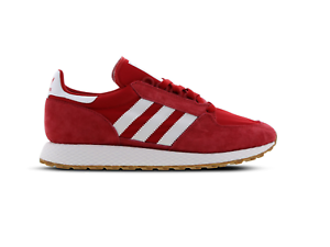 Mens-ADIDAS-FOREST-GROVE-Scarlet-Trainers-B41530