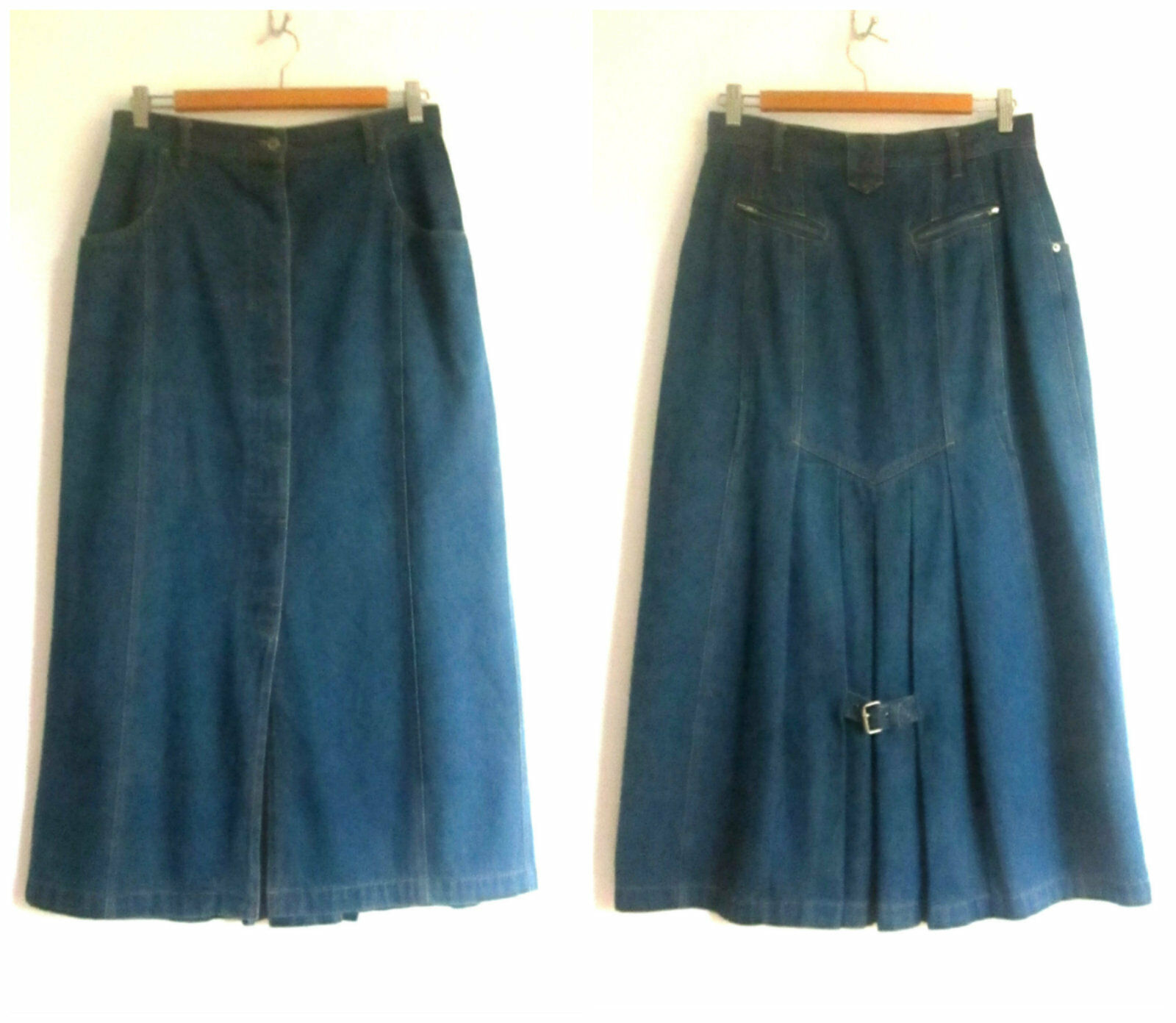 Womens Together sz 12 bluee Denim Skirt As New (HU)