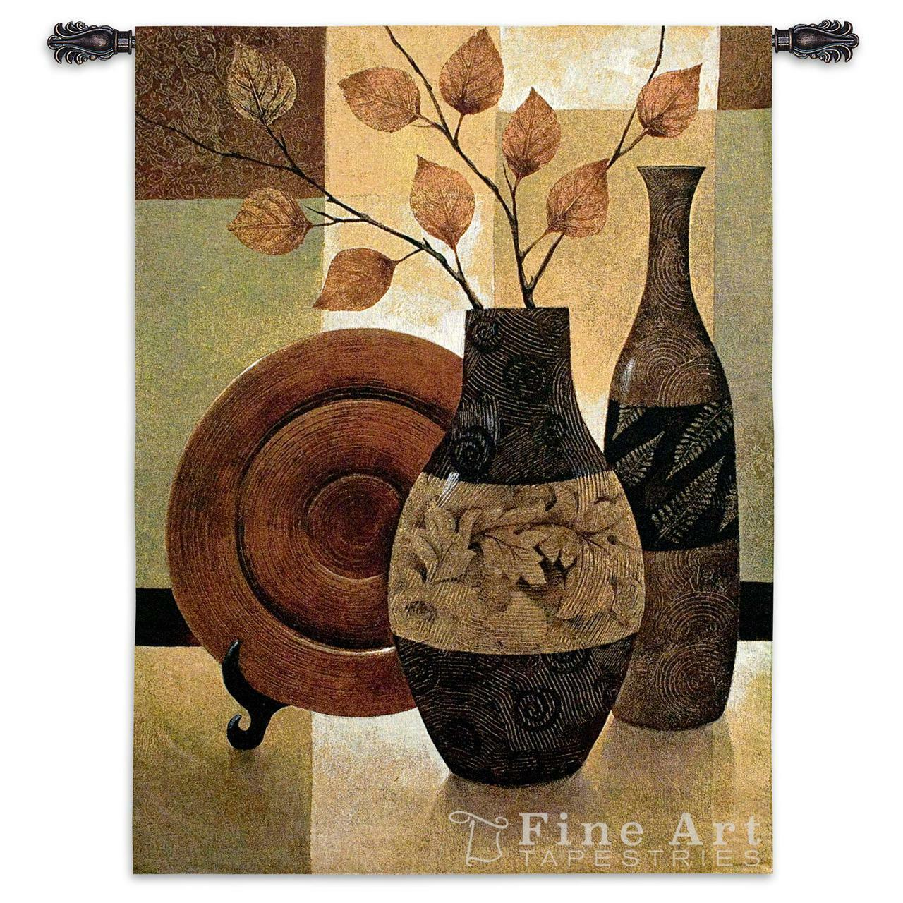 Nature's Patchwork I Contemporary Modern Wall Tapestry