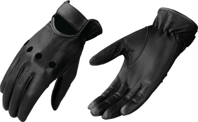Men's Lightweight Unlined Leather Driving Glove w/ Knuckle Cut Out SH247