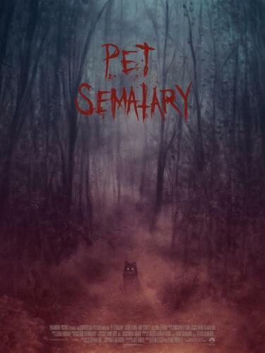 PET SEMATARY STEPHEN KING MONDO POSTER PRINT 18X24 RANDY ORTIZ SXSW EXCLUSIVE