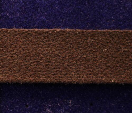 """Flat Braid Trim Uniform Braid Trim Heavy Textured Cotton 3//4/"""" Brown 5 yds #BG193"""